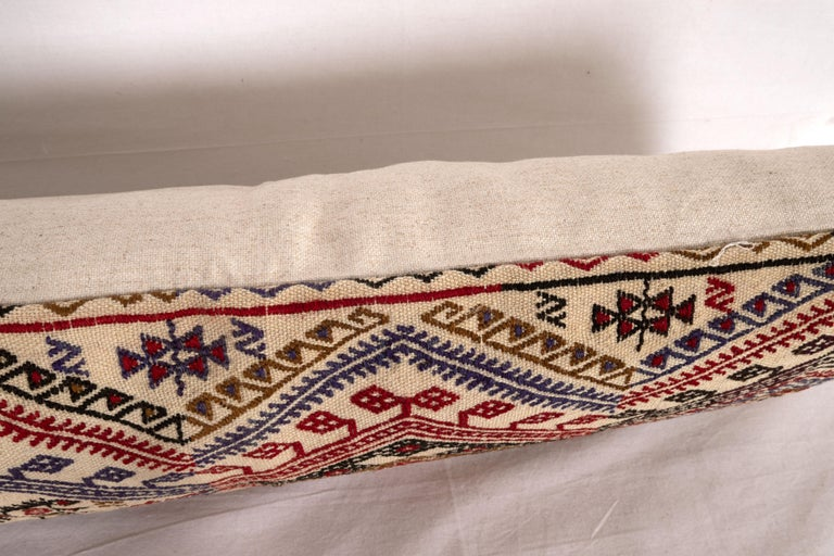 20th Century Cicim Kilim Pillow Fashioned from an Anatolian Cicim Kilim, 1930s For Sale