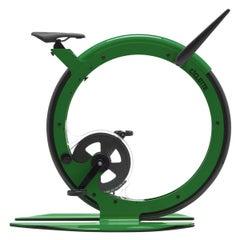 Ciclotte Bike in Green Steel by Luca Schieppati