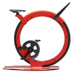 Ciclotte Bike in Red Steel by Luca Schieppati