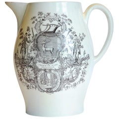 Cider Jug, Armorial Print Ancient Order of the Bucks 'Oddfellows' Wedgwood
