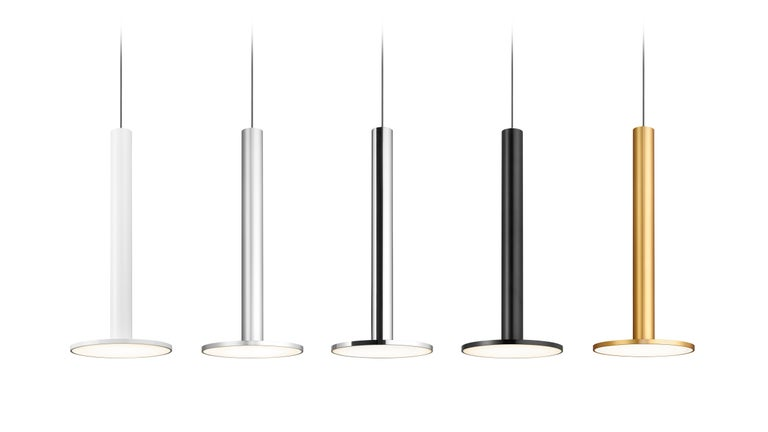 American Cielo XL Pendant Light in Satin Black by Pablo Designs For Sale