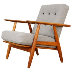 Cigar Easy Chair Ge240 by Hans J. Wegner for GETAMA, 1950s