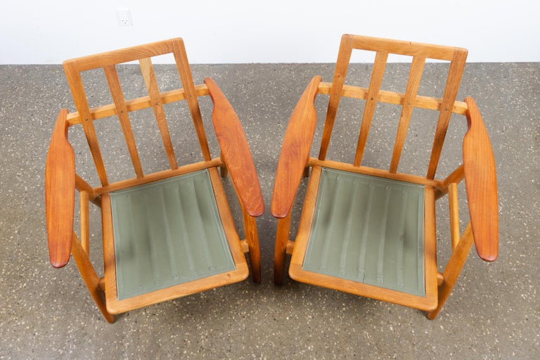 Cigar GE-240 Easy Chairs by Hans J. Wegner 1950s, Set of 2 For Sale 8