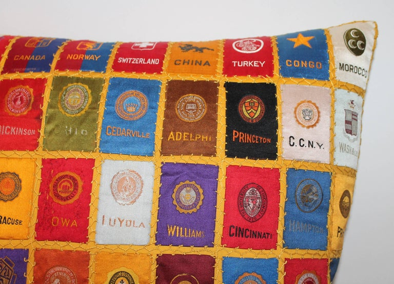 American Cigar Silk Premiums Quilted Pillow For Sale