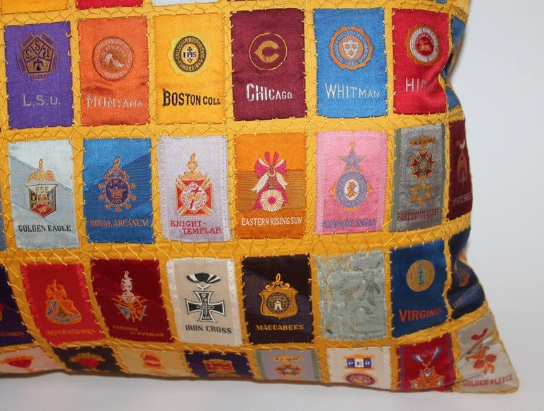 Hand-Crafted Cigar Silk Premiums Quilted Pillow For Sale