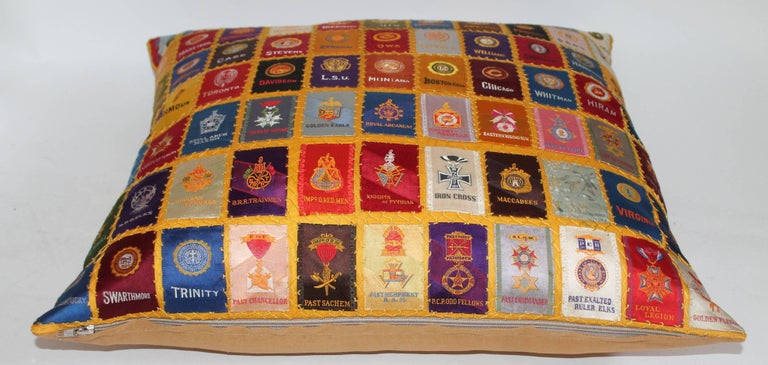 20th Century Cigar Silk Premiums Quilted Pillow For Sale
