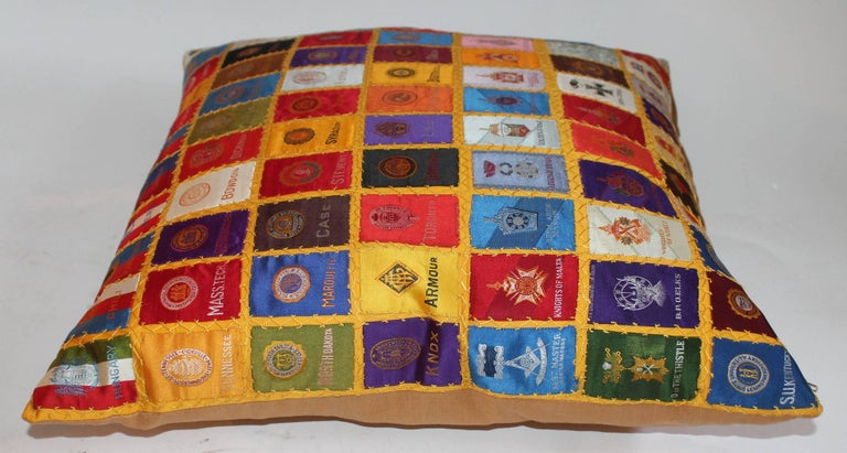 Cigar Silk Premiums Quilted Pillow For Sale 1