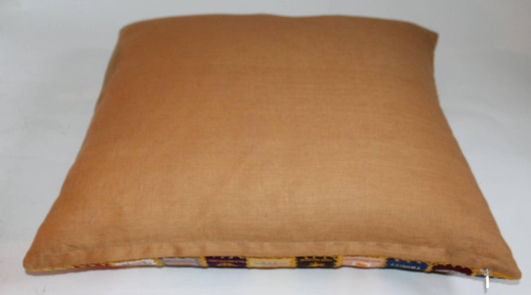 Cigar Silk Premiums Quilted Pillow For Sale 2