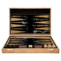 Cigars Backgammon Board by Alexandra Llewellyn