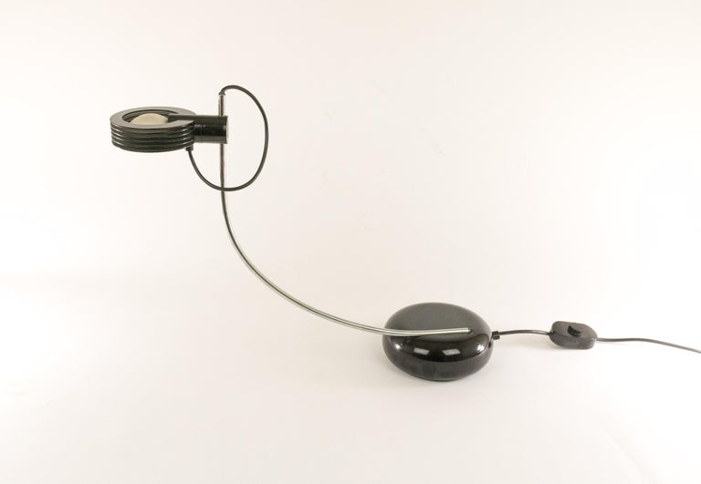 Mid-Century Modern Cigno Halogen Table Lamp by Iguzzini, 1970s For Sale