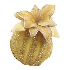 Cilea Paris Fantasy Yellow Pumpkin Resin Pin Brooch
