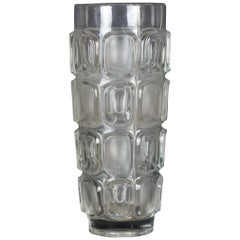 Cylindrical Glass Vase, Italy, 1970s