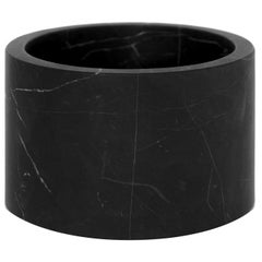 Black marble small Cylinder