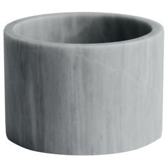 Cilindro, White Marble Small Cylinder
