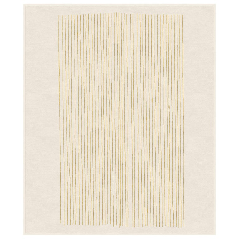 Cimbergo Tortura Hand Knotted Wool and Bamboo Silk For Sale