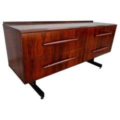 Cimo 1960s Brazilian Jacaranda Wood Sideboard or Dresser