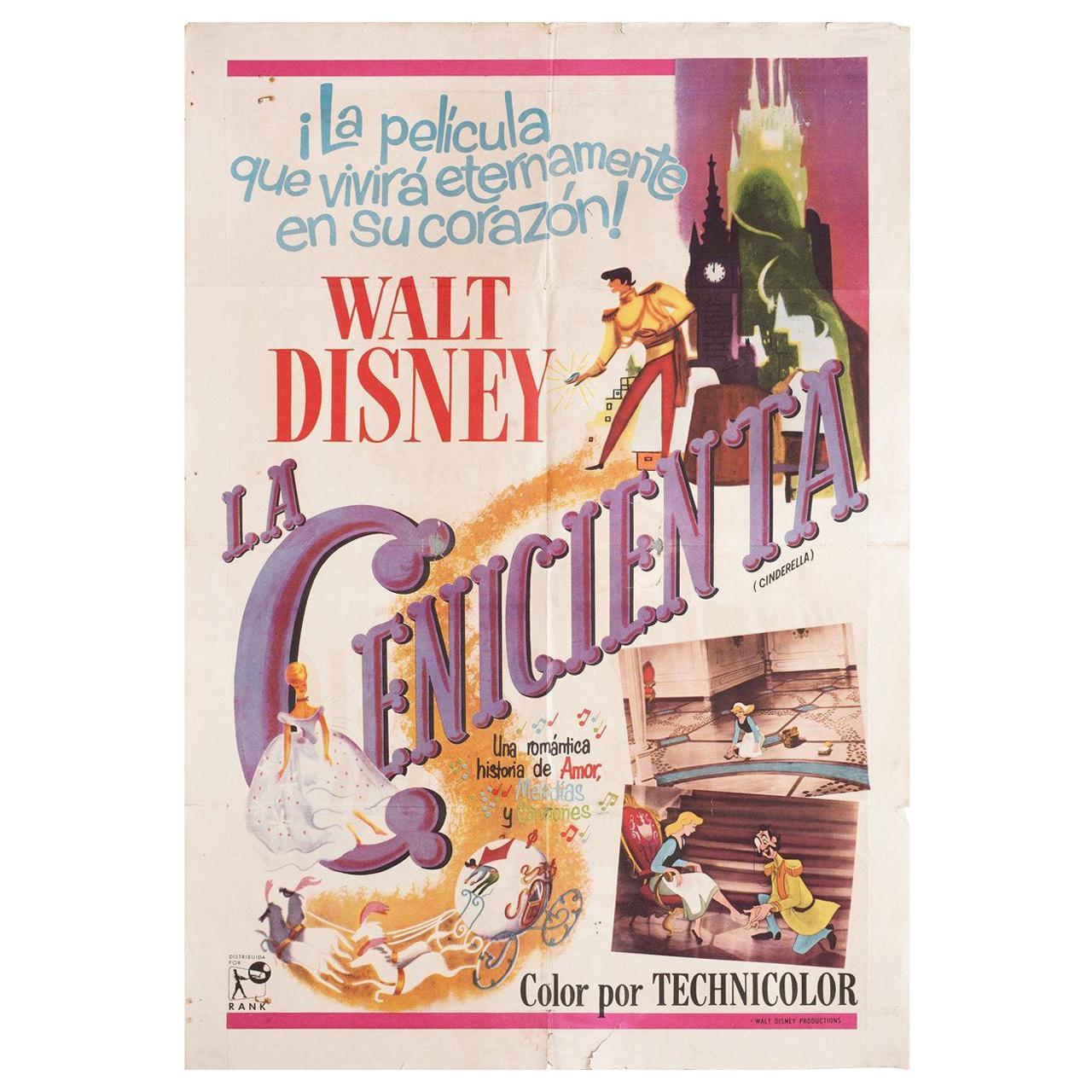 Cinderella R1960s Argentine Film Poster