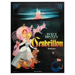 Cinderella R1960s French Grande Film Movie Poster, Large, Linen Backed