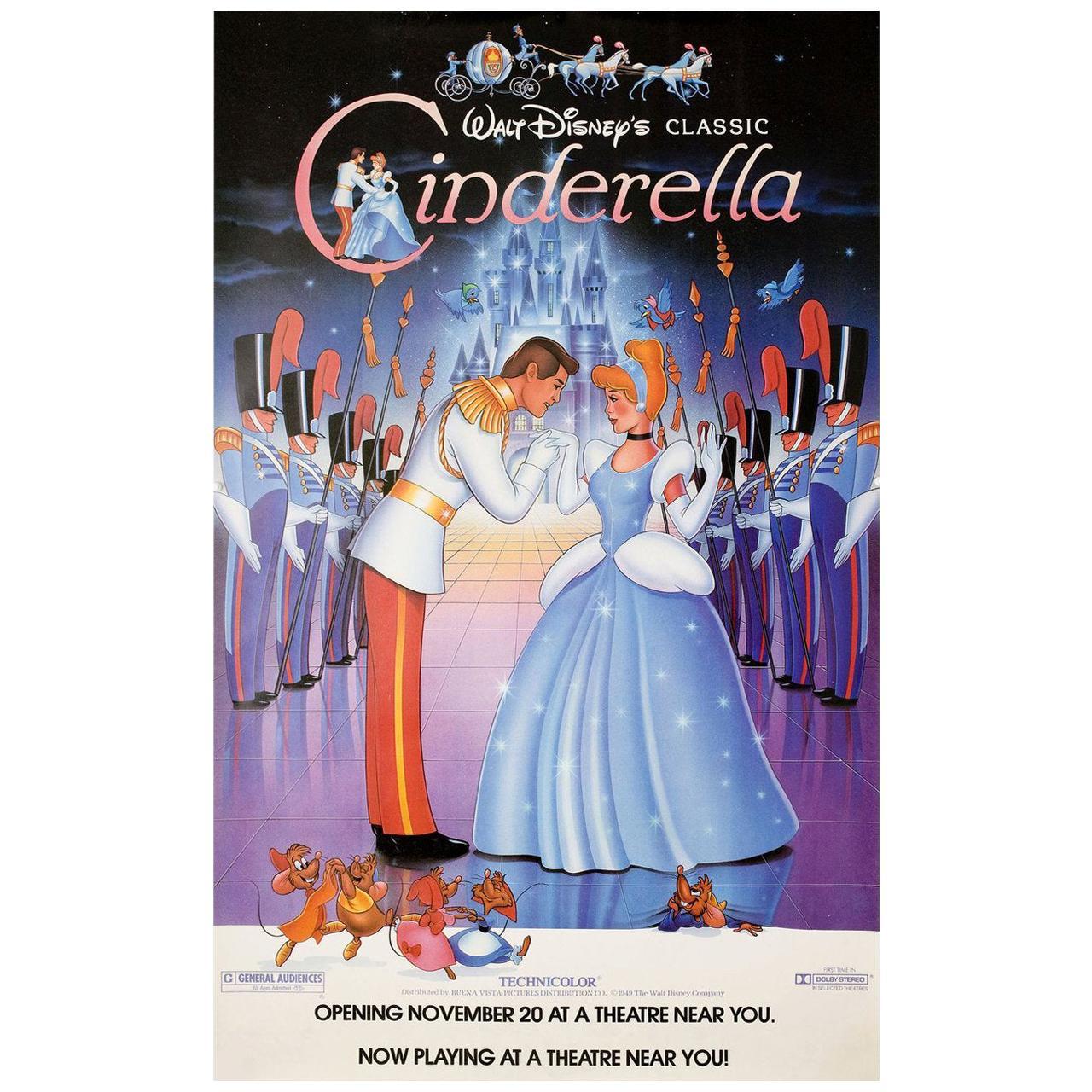 Cinderella R1987 U.S. Half Subway Film Poster