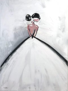 """""""Charlotte"""" Figure in Chanel Gown French Haute Couture Oil Painting on Canvas"""
