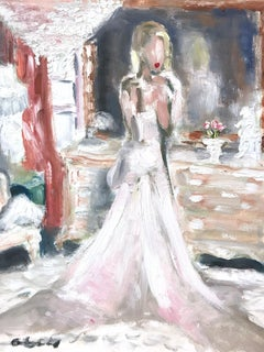 """Christine Quinn"" Selling Sunset Star in Chanel for Vogue Oil Painting on Paper"