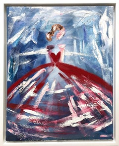 """""""Dazzling in Paris """" Chanel Dress French Haute Couture Oil Painting on Canvas"""