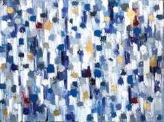 Dripping Dots, Aspen, Colorful, Abstract, Oil Painting