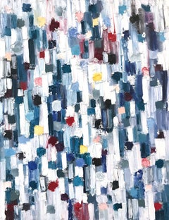"""Dripping Dots - Bay of Saint-Tropez"" Colorful Abstract Oil Painting on Canvas"