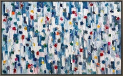 """Dripping Dots - Cannes"" Colorful Abstract Oil Painting on Canvas"