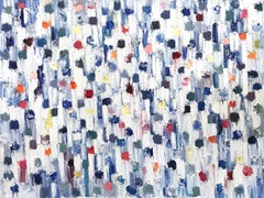 """""""Dripping Dots - Cannes"""" Colorful Contemporary Abstract Oil Painting on Canvas"""