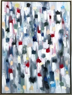 """Dripping Dots - Capri"" Colorful Abstract Oil Painting on Canvas"