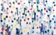 """""""Dripping Dots - Capri"""" Colorful Contemporary Abstract Oil Painting on Canvas"""