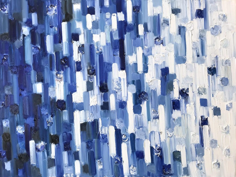 """Cindy Shaoul Abstract Painting - """"Dripping Dots - Careyes"""" Colorful Contemporary Oil Painting on Canvas"""