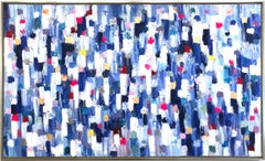 """""""Dripping Dots - Carrera"""" Colorful Abstract Landscape Oil Painting on Canvas"""