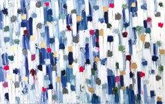 """Dripping Dots - Carrera"" Colorful Contemporary Abstract Oil Painting on Canvas"