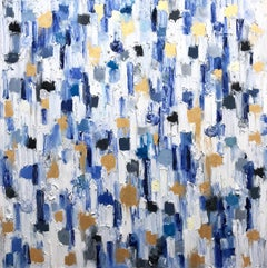 Dripping Dots - Crete Greece, Colorful, Abstract, Oil Painting