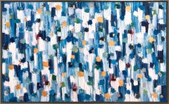 """Dripping Dots - Essex"" Colorful Abstract Oil Painting on Canvas"