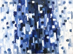 """""""Dripping Dots - Essex"""" Colorful Contemporary Abstract Oil Painting on Canvas"""
