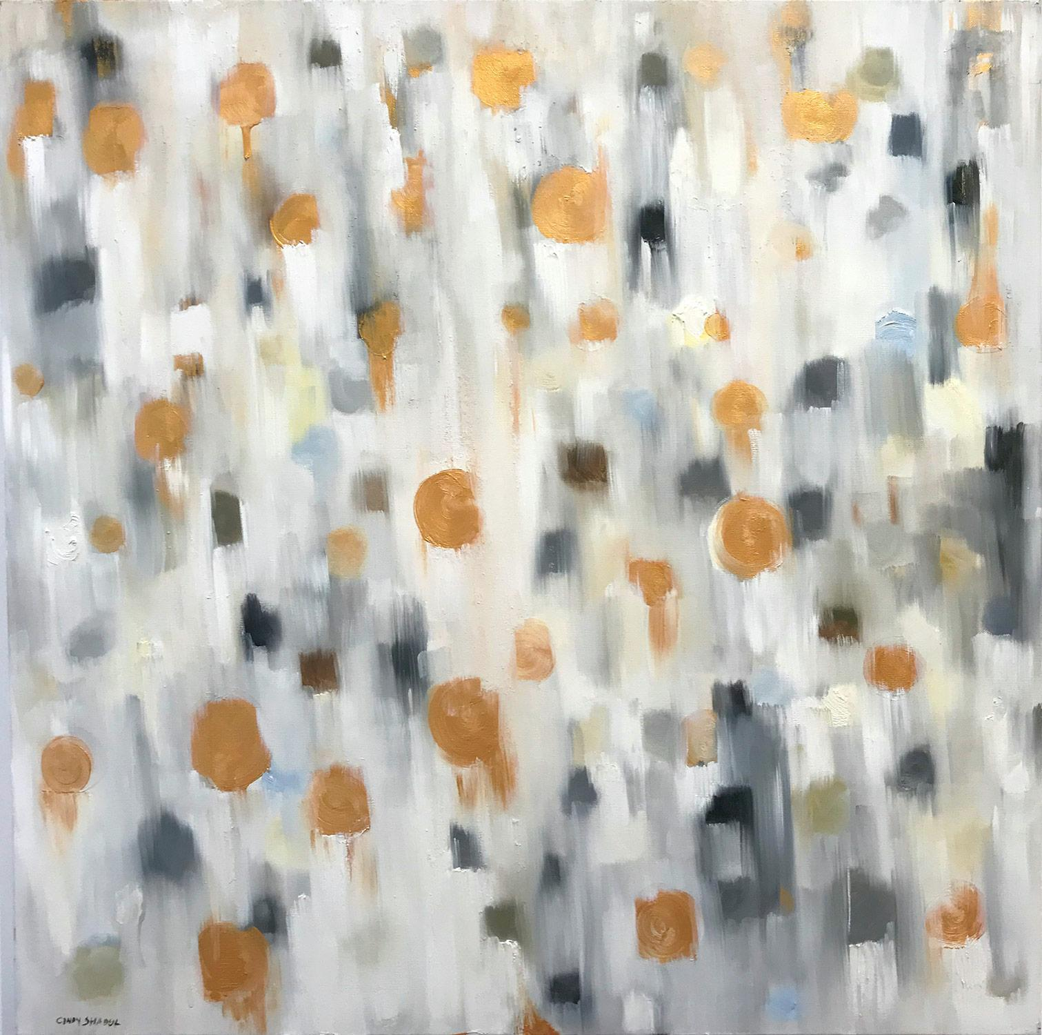 """""""Dripping Dots - Geneva"""" Colorful Contemporary Oil Painting on Canvas"""