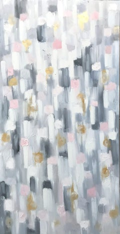 """""""Dripping Dots - Golden Sun Kisses"""" Contemporary Abstract Oil Painting on Canvas"""