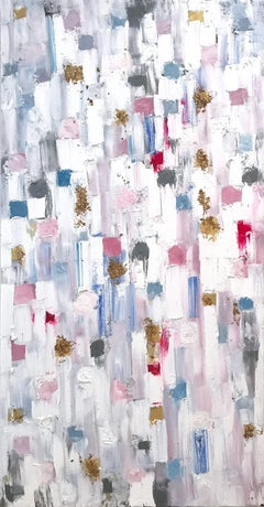 """""""Dripping Dots - Hollywood"""" Colorful Abstract Oil Painting on Canvas"""