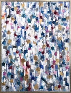 Dripping Dots, Hollywood Regency, Colorful, Abstract, Oil Painting