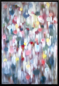 """""""Dripping Dots - Ibiza"""" Colorful Contemporary Oil Painting on Canvas"""