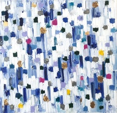 """""""Dripping Dots - La Glaye"""" Colorful Abstract Oil Painting on Canvas"""