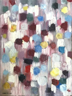 """""""Dripping Dots - Let's Fall in Love"""" Colorful Contemporary Oil Painting"""