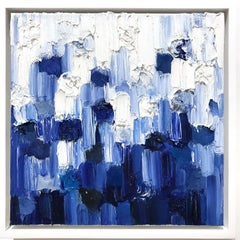 """""""Dripping Dots -  London"""" Colorful Gradient Abstract Oil Painting on Canvas"""