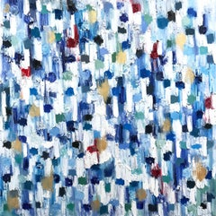 Dripping Dots - Madagascar, Colorful, Abstract, Oil Painting