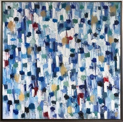"""""""Dripping Dots - Madagascar"""" Colorful Abstract Oil Painting on Canvas"""