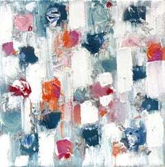 """""""Dripping Dots - Melrose"""" Colorful Abstract Oil Painting on Canvas"""