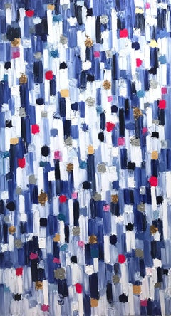 """""""Dripping Dots - Monaco Grand"""" Contemporary Abstract Oil Painting on Canvas"""